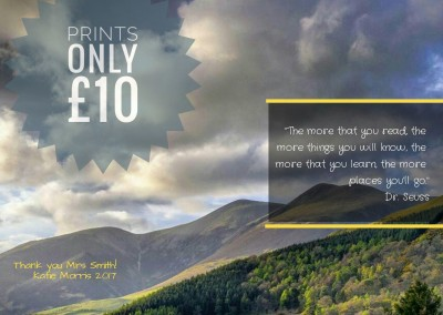 Prints from only £10 depending on size